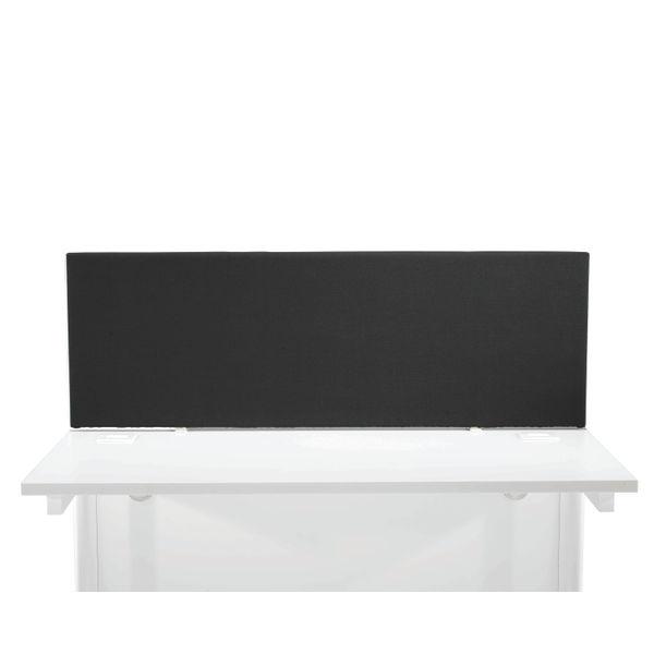 First 1200mm Black Desk Mounted Screen