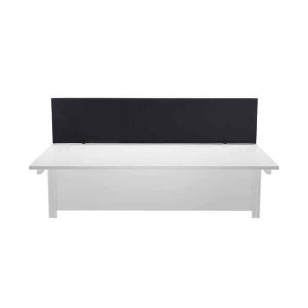 First 1800mm Black Desk Mounted Screen