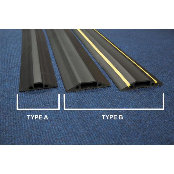 D-Line floor Cable Cover Hazard 80mm 1.8m c/w connectors Yellow/Black FC83H