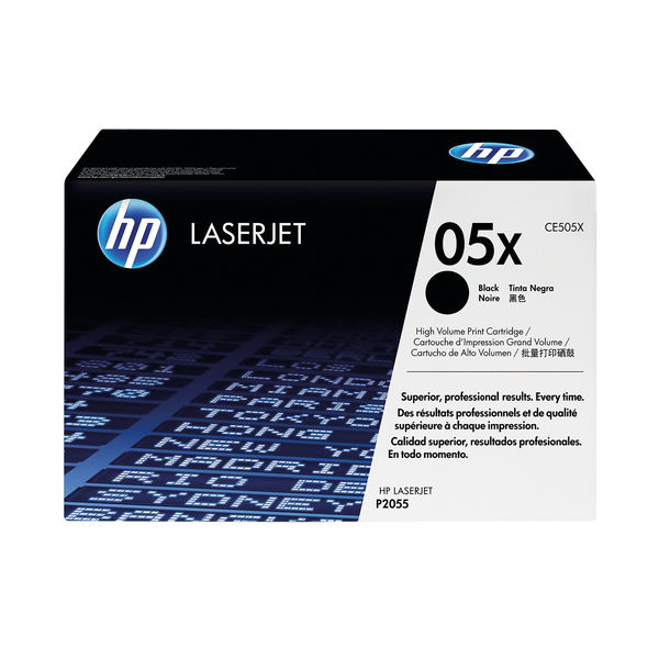 HP 05X Black LaserJet Toner Cartridge High Capacity | CE505X