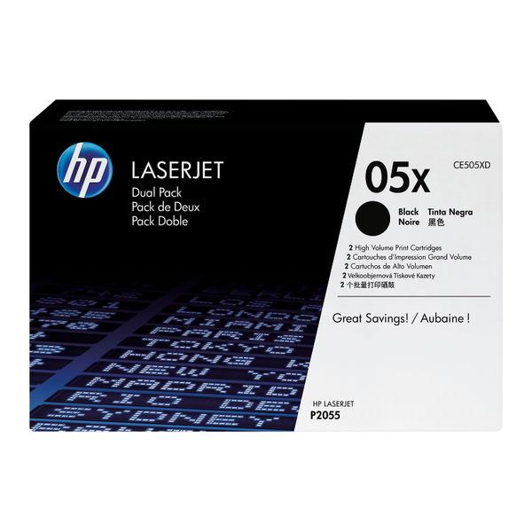 HP 05X Black LaserJet Toner Dual Pack | CE505XD
