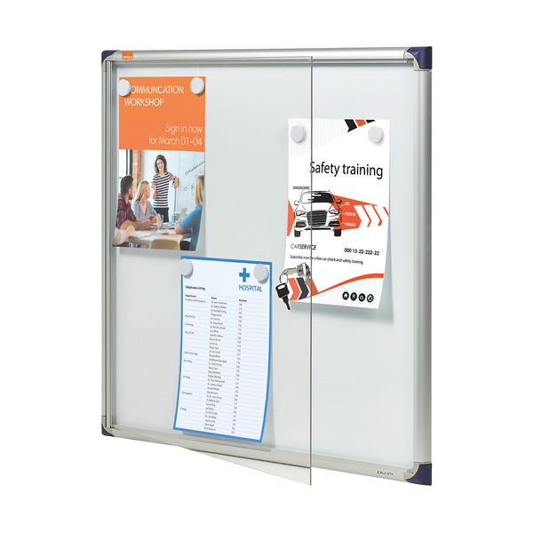 Nobo 6 x A4 Extra Flat Glazed Magnetic Display Case - 1900847