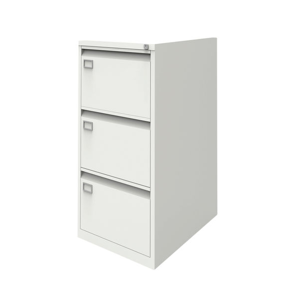 Jemini 1016mm White 3 Drawer Filing Cabinet