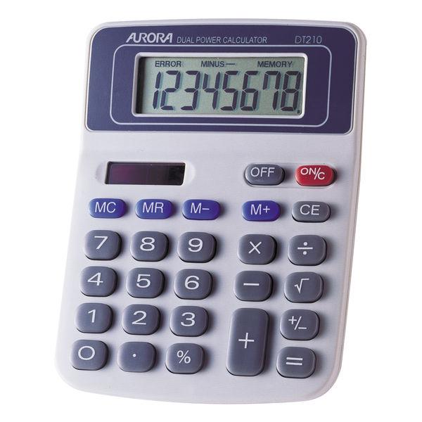 Aurora DT210 Desktop Calculator, 8 Digit Display - AO21001