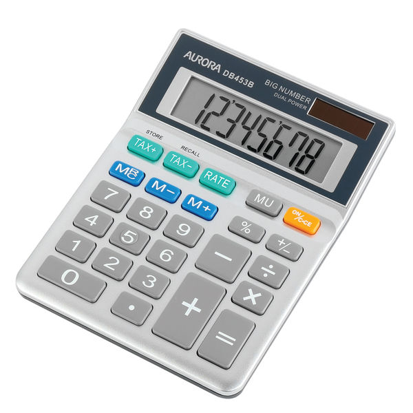 Aurora DB453B Semi Desktop Calculator, 8 Digit Display - DB453B