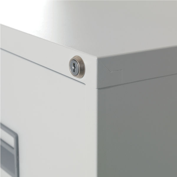 Talos 1000mm White 3 Drawer Filing Cabinet