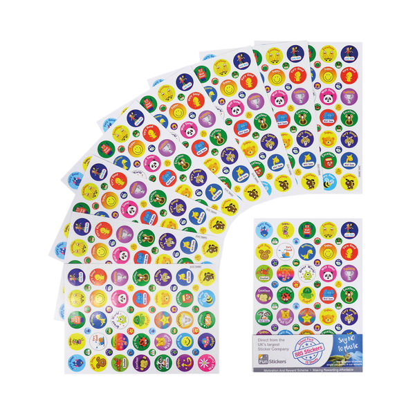 Fun Stickers 885 Motivational Stickers A5 (Pack of 15) Mars 1919