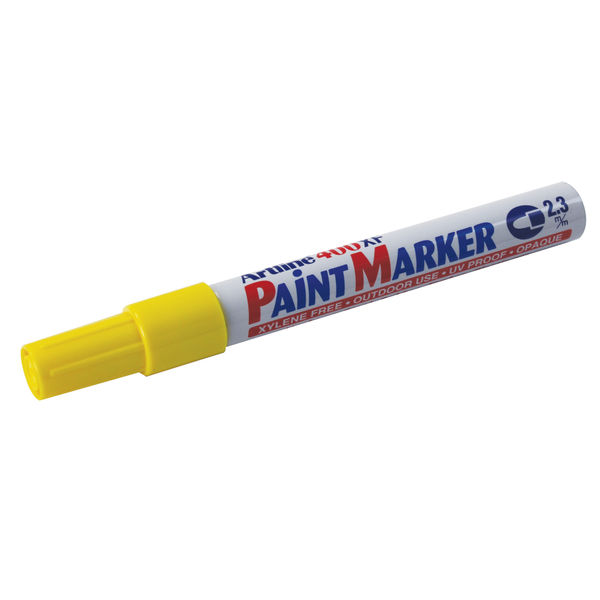 Artline 400XF Yellow Fine Tip Paint Markers, Pack of 12 - 570601