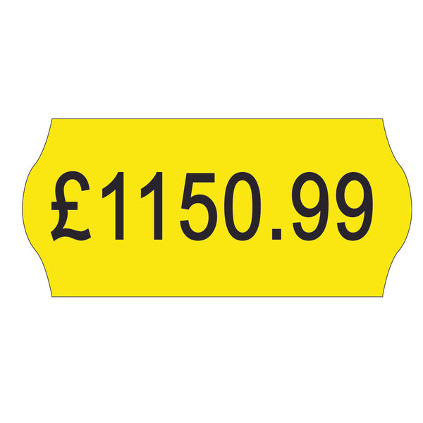 Avery Dennison Single-Line Price Marking Label Yellow 12x26mm (Pack of 15000) YR1226