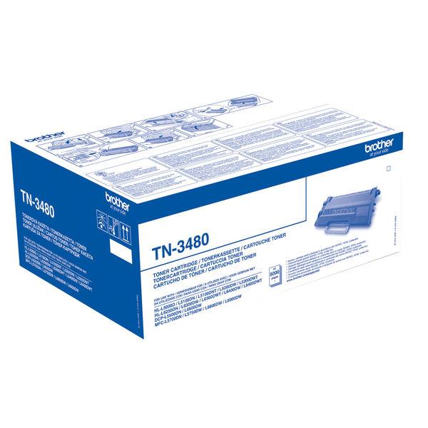 Brother TN-3480 Black Toner Cartridge - High Capacity TN3480