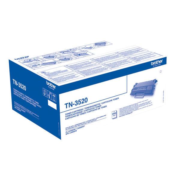 Brother TN-3520 Black Ultra High Capacity Laser Toner Cartridge - TN3520