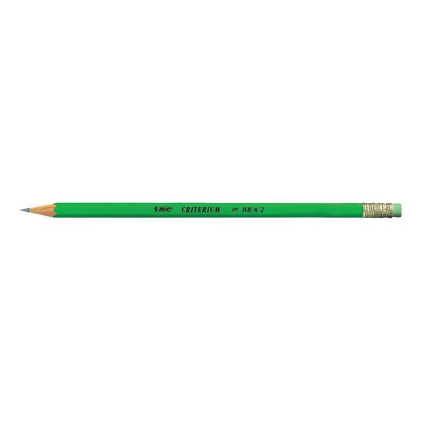 BIC Criterium HB Eraser Tip Graphite Pencils, Pack of 24 - 857603