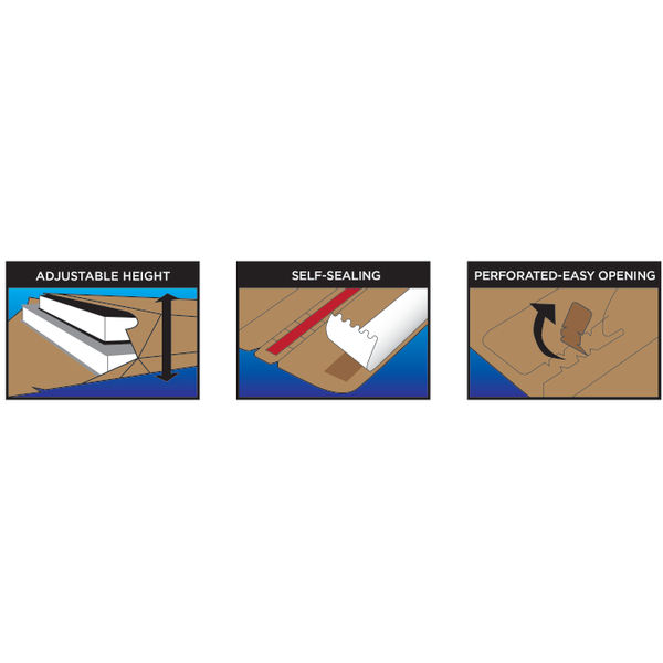 Blake A4+ Corrugated Board Envelopes, Pack of 100 - PCE40