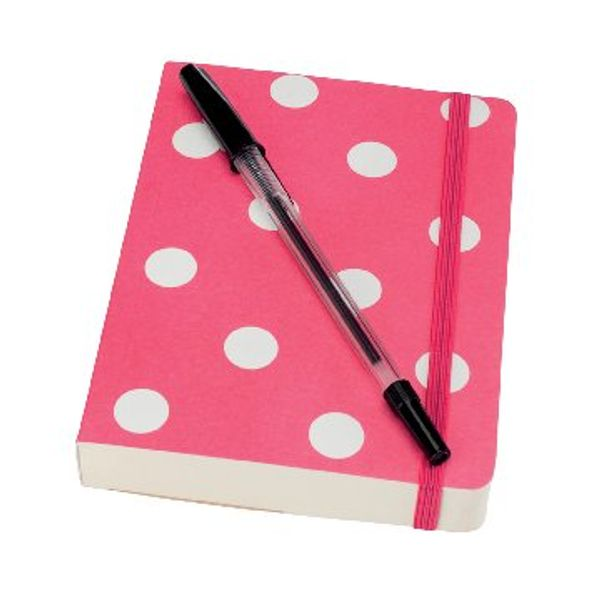 Go Stationery Pink Polka Dot A6 Notebook - 6PNC402
