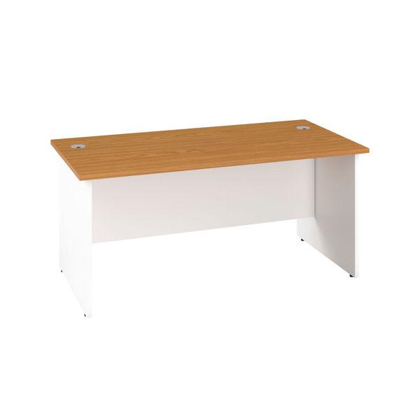 Jemini 1200mm Nova Oak/White Rectangular Panel End Desk