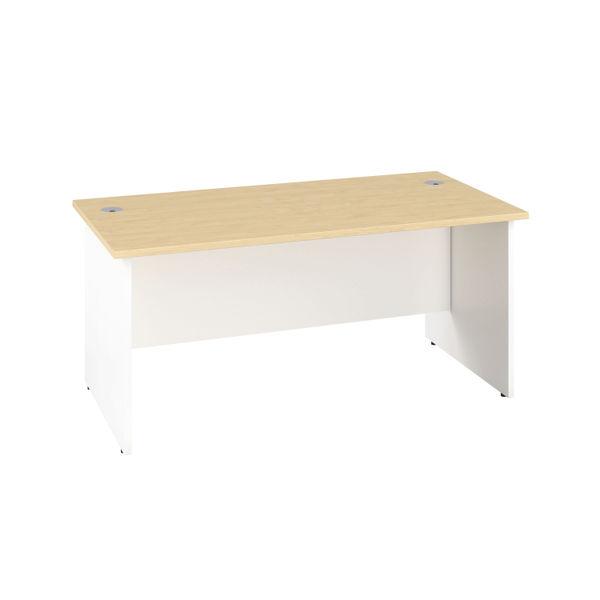 Jemini 1400mm Maple/White Rectangular Panel End Desk