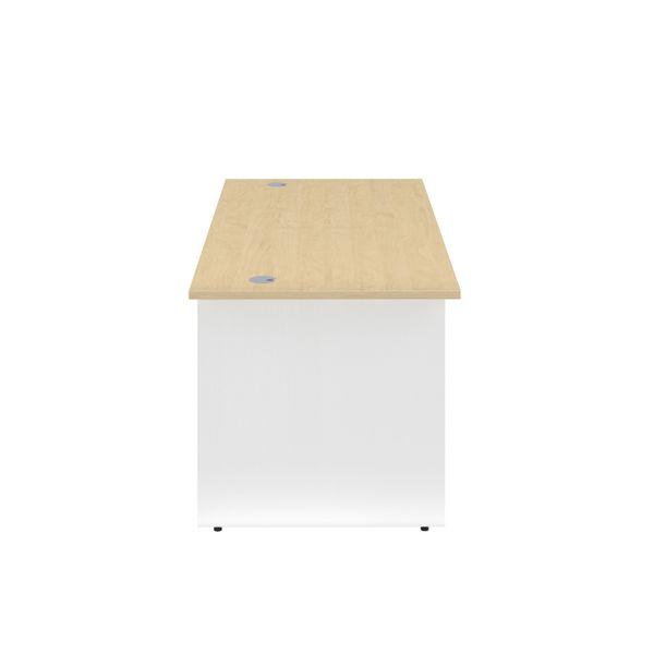 Jemini 1600mm Maple/White Rectangular Panel End Desk
