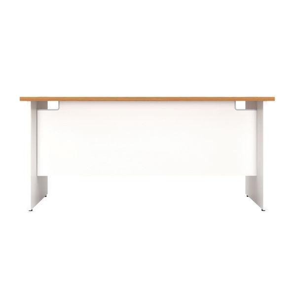 Jemini 1800mm Nova Oak/White Rectangular Panel End Desk