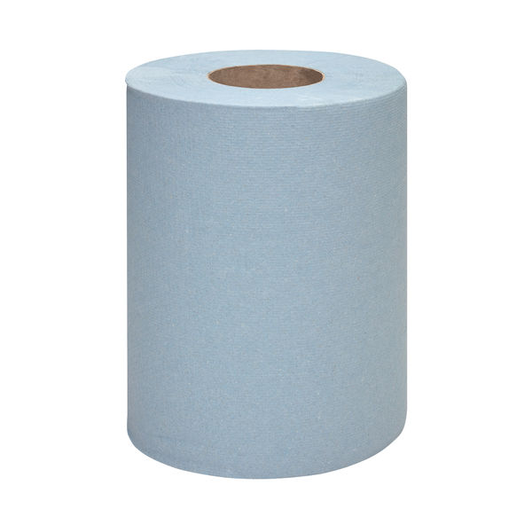 WypAll L10 Service Retail Centrefeed Paper Rolls 1-Ply 6 Rolls/280 Wipes Blue (Pack of 1680) 6220