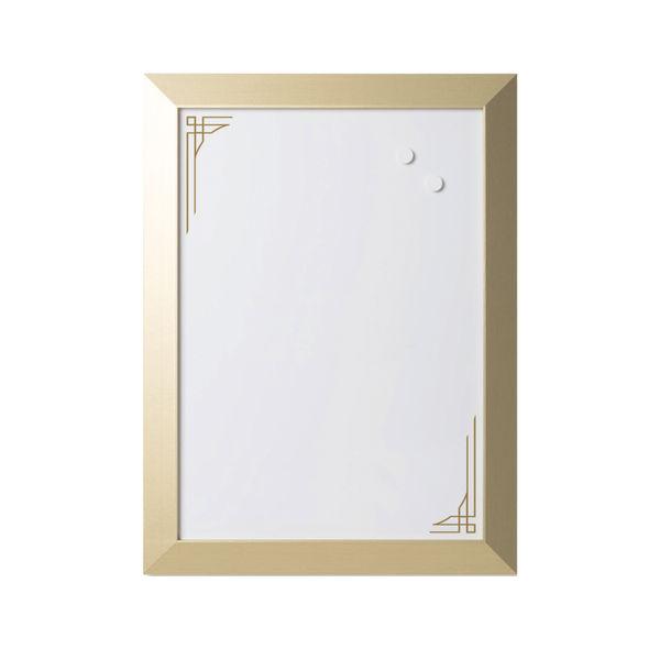 Bi-Office Personal Message Board Set Metallic Gold (Pack of 3) SOR031