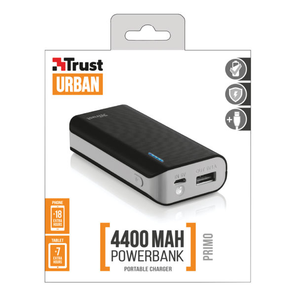 Primo Power Bank 4400mAh Portable Charger / USB Charger (Phone / Tablet) 21224