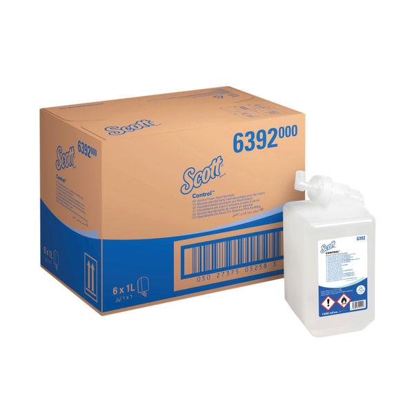 Scott 1 Litre Alcohol Foam Hand Sanitisers, Pack of 6 - 6392