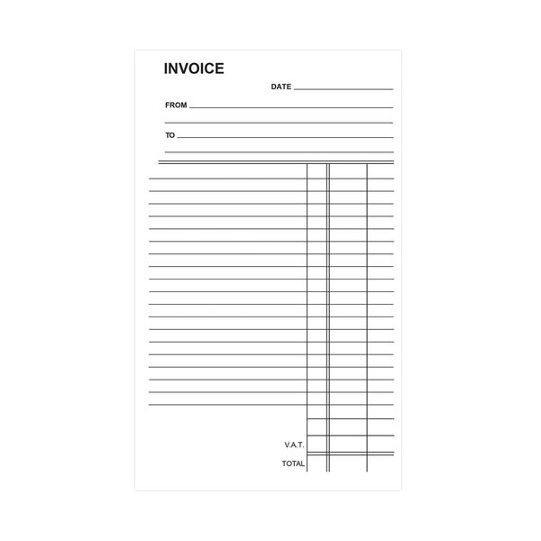 Silvine Carbonless Invoice Duplicate Book, 100 Pages (Pack of 6) - 711-T