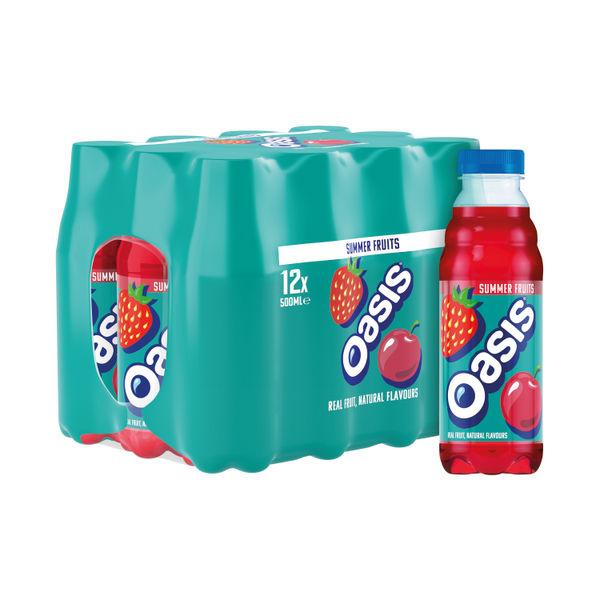Oasis Summer Fruits 500ml Bottle (Pack of 12) 414841