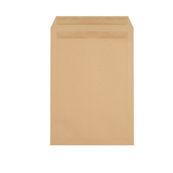Q-Connect Manilla C4 Plain Self Seal Envelopes 90gsm, Pack of 250 - 1D25ST