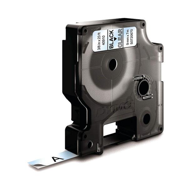 Dymo D1 Labelmaker Tape 9mm x 7m Black on Clear | S0720670