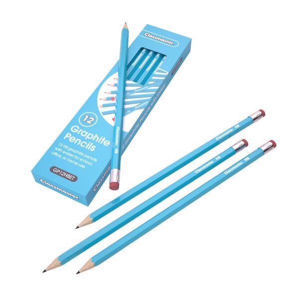 Classmaster HB Pencil Eraser Tip (Pack of 12) GP12HBET