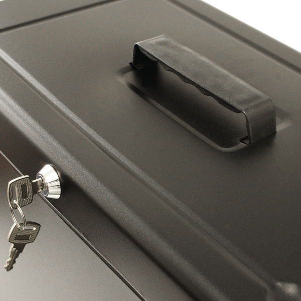 Staples Metal Box File Lockable 290 x 430 x 220mm Black HOBKST