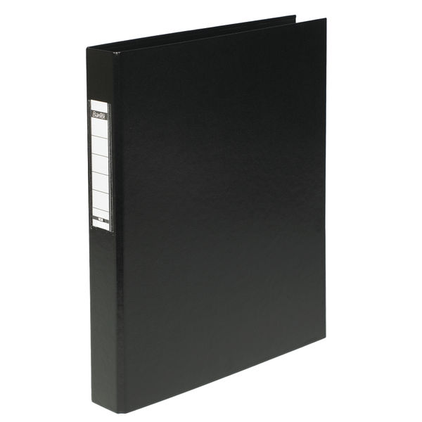 Elba Black A4 2 O-Ring Binder 25mm, Pack of 10 - 400001512
