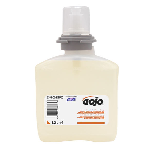 Gojo 1200ml Antimicrobial Foam Soap Refills, Pack of 2 - 5378-02-EEU00