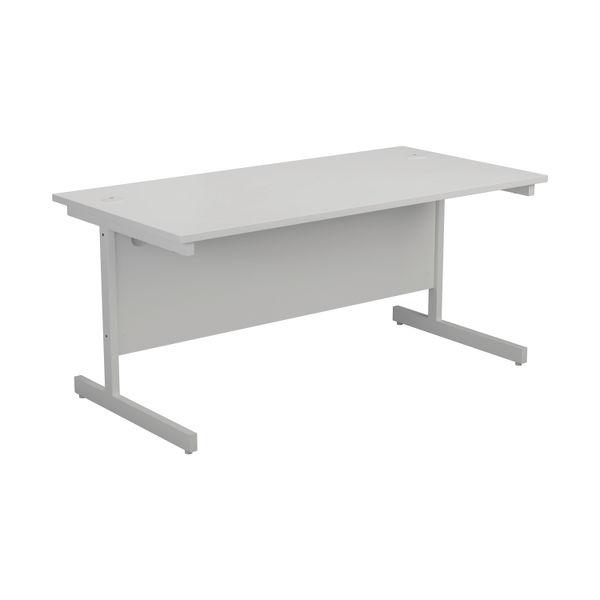 Jemini 1200x800mm White/White Single Rectangular Desk