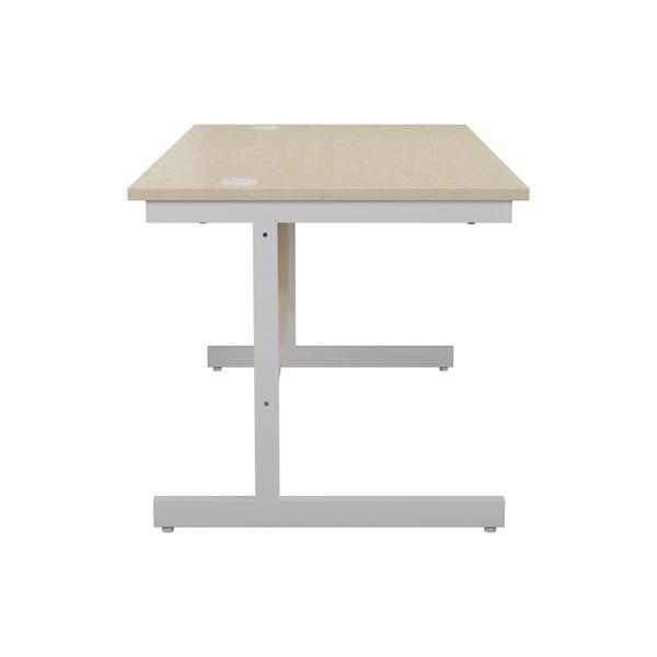 Jemini 1200x800mm Maple/White Single Rectangular Desk