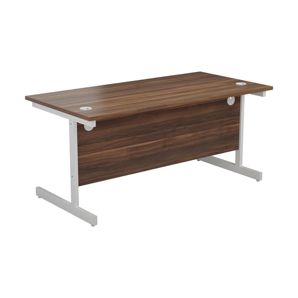 Jemini 1200x800mm Dark Walnut/White Single Rectangular Desk