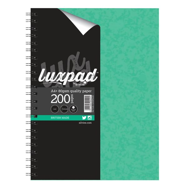 Silvine Luxpad Stiff Covered Wire Notebook A4 Plus (Pack of 3) LUXSPA4AC
