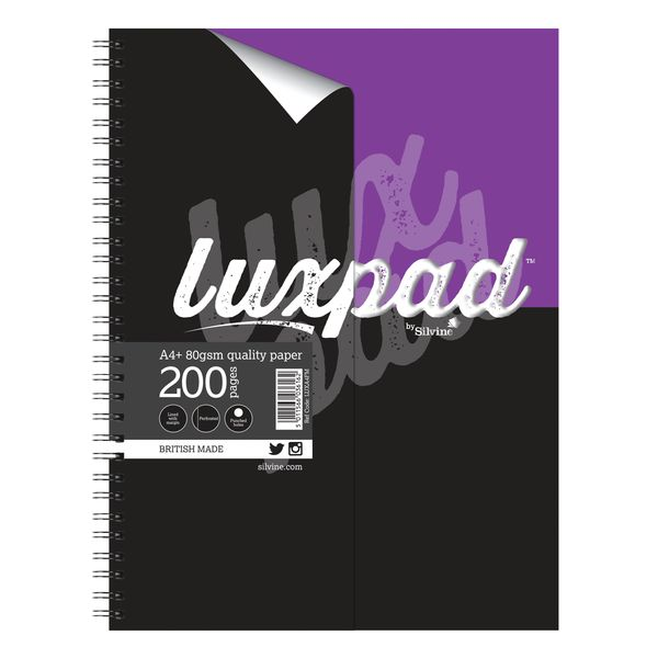 Silvine Luxpad Printed Hardback Notebook A4 Plus (Pack of 3) LUXA4FM