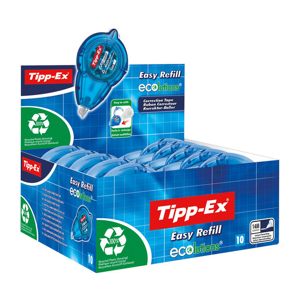 Tipp-Ex Easy Refill Correction Roller, Pack of 10 - 8794243