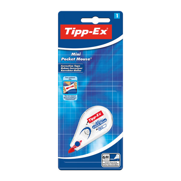 Tipp-Ex Mini Pocket Mouse Correction Rollers, Pack of 10 - 8128704