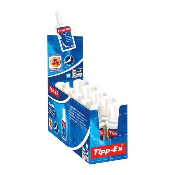 Tipp-Ex Rapid Correction Fluids, Pack of 10 - 885992