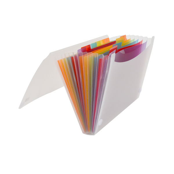 Oxford A4 Clear 13-Part Expanding File – 100208980