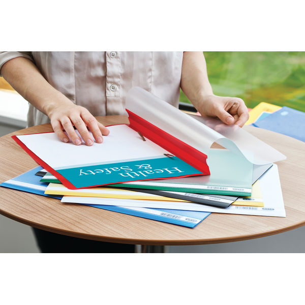 Elba Dark Blue A4 Durable Clearview Folder, Pack of 50 - 400055030