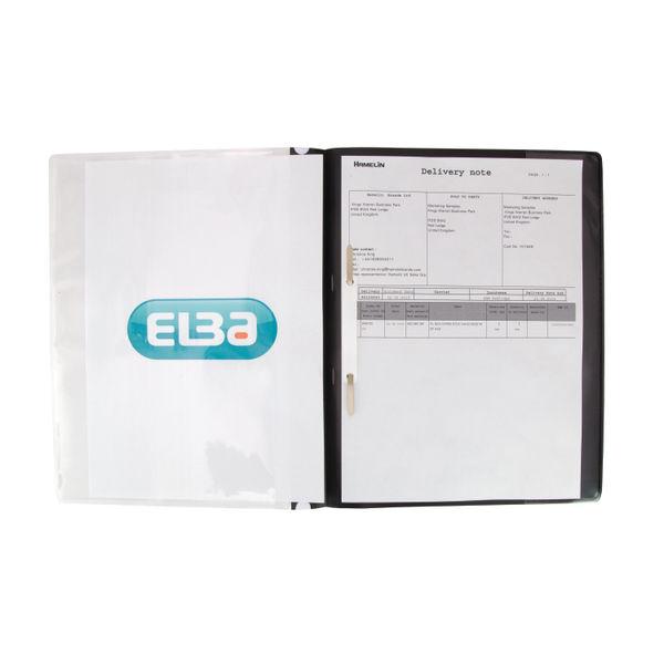 Elba Black A4 Pocket Report File (Pack of 25) - 400055036