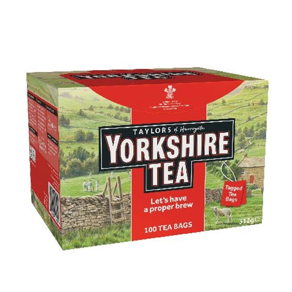 Yorkshire String and Tag Tea Bags, Pack of 100 - 1342