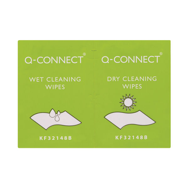 Q-Connect Wet and Dry Wipes, Pack of 20   KF32148