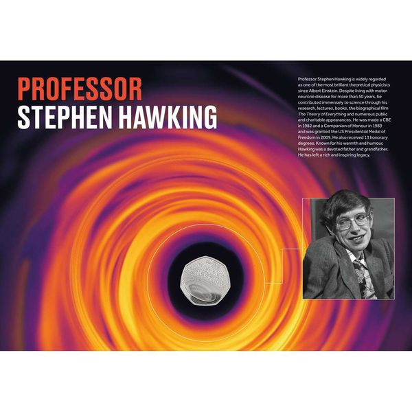 The Visions of the Universe Stephen Hawking Coin Cover