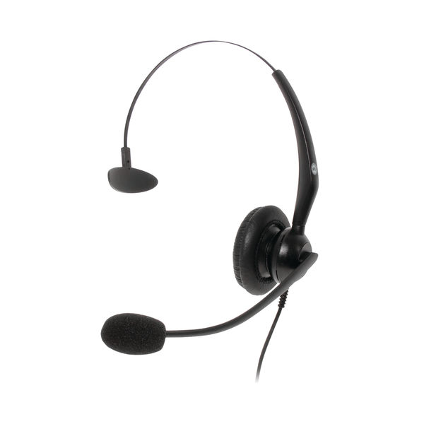 JPL JACPLUS Monaural Adjustable USB Headset Clothing Clip Black JACPLUSUSBMON
