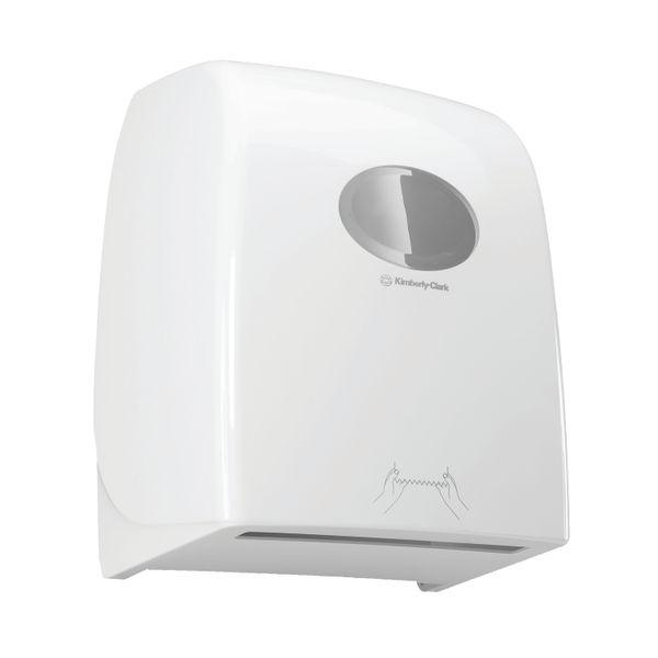 Aquarius Rolled Hand Towel Dispenser White 6959